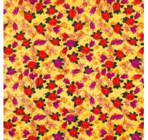 Tela Amarilla con Flores