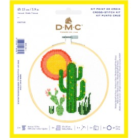 Kit de Punto de Cruz  - Cactus - DMC