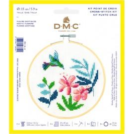 Kit de Punto de Cruz  - Flores Exoticas - DMC