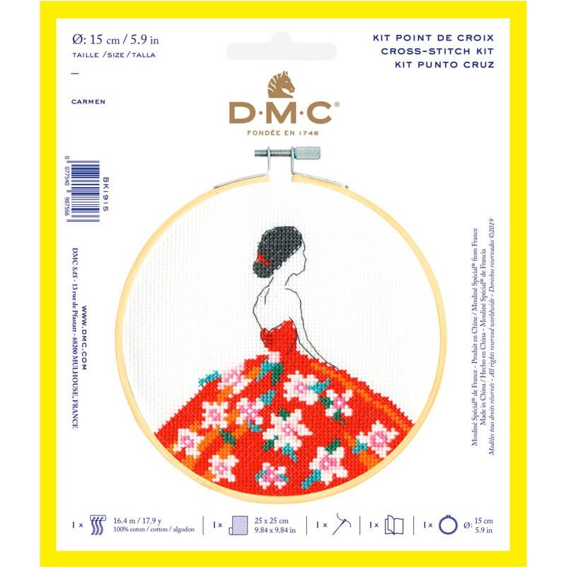 Kit de Punto de Cruz  - Carmen - DMC