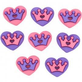 Botones Poyal Hearts - Dress It Up
