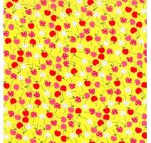 Tela con Cerezas - Amarilla