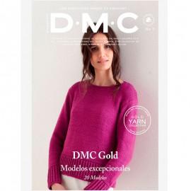 Revista DMC Nº 7 Creaciones de Tricot y Crochet Gold Yarn Collection - 2018