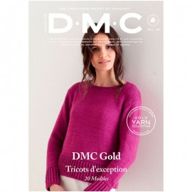 Magazine DMC Nº 2 Creaciones de Tricot y Crochet Gold Yarn Collection - 2018