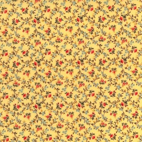 Flores en Fondo Amarillo