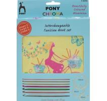 Set de Ganchillos Tunecinos Intercambiables Chroma - Pony