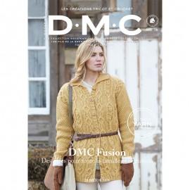 Revista DMC Nº 9 Creaciones de Tricot y Crochet Fusion 20 Modelos - 2018