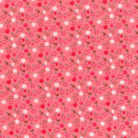 Flores en Fondo Rosa