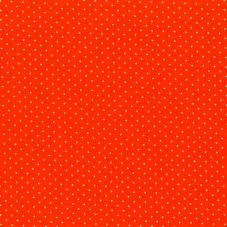 Tela con Puntos - Naranja
