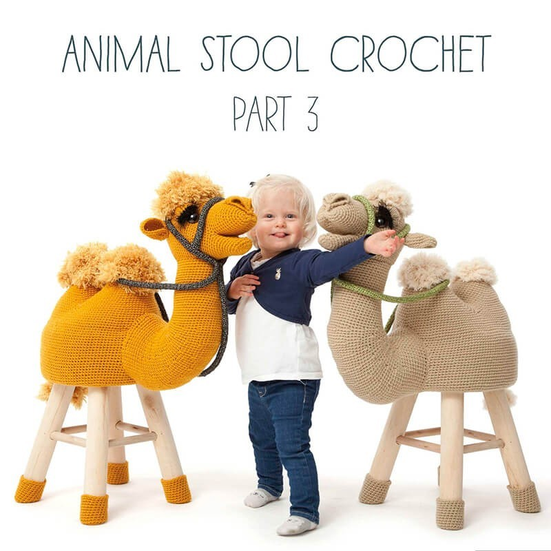 Animal Stool Crochet - Parte 3