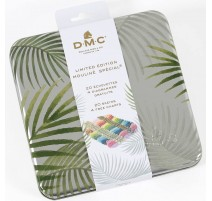 DMC Palm Metal Box with 20 Mouliné Embroidery threads - Limited Edition