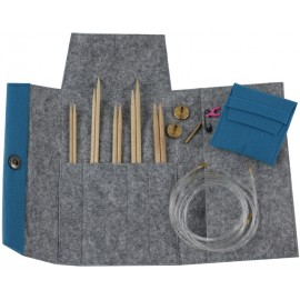 Maple interchangeable circular needles set with felt case - Pony
