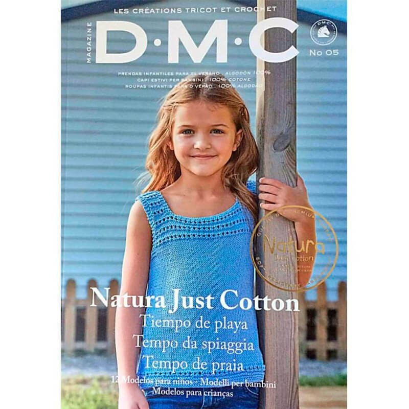 Revista DMC Nº 5 Creaciones de Tricot y Crochet Natura Just Cotton - 2018