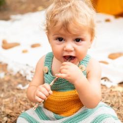 Baby Dungaree Boho Crochet...
