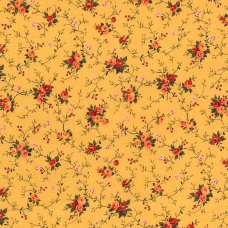 Tela Flores -Ocre