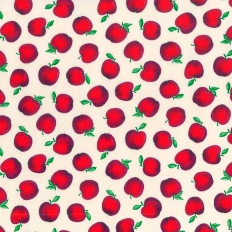 Tela Manzanas Rojas