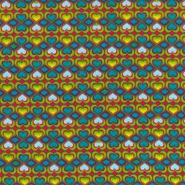 Corazones del derecho y revés - Amarillo y Azul