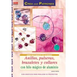 Anillos, pulseras, brazaletes y collares con hilo mágico de aluminio