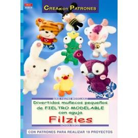Divertidos muñecos pequeños de fieltro modelable con aguja Filzies