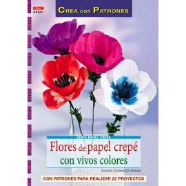 Flores de papel crepé con vivos colores
