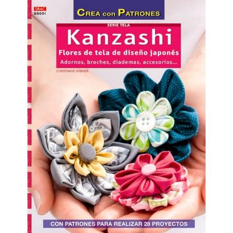 Kanzashi, Flores de tela de diseño japonés
