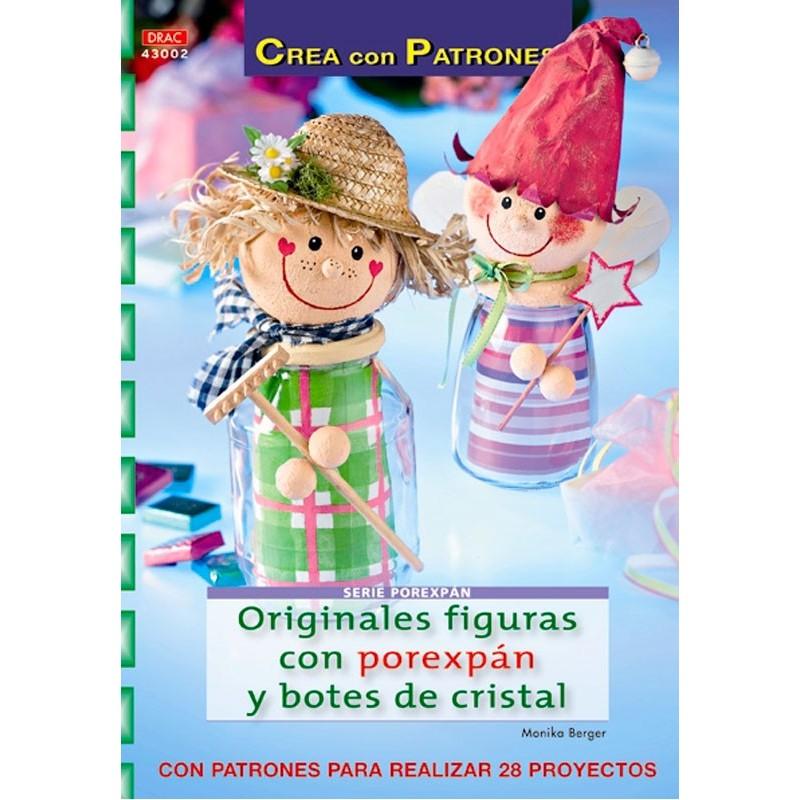 Originales figuras con porexpán y botes de cristal