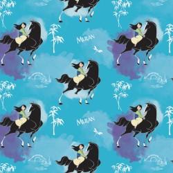 Cotton Fabric - Mulan -...