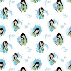 Cotton Fabric - Mulan