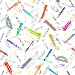 Cotton Fabric – Pens