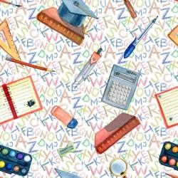 Cotton Fabric – School