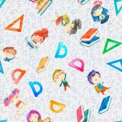 Cotton Fabric – Nursery School