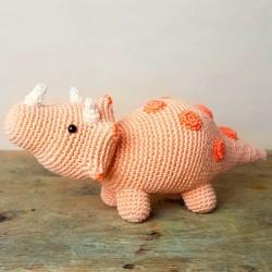 Crochet Kit - Dino Triceratops