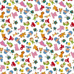 Cotton Fabric - Pocoyo and...