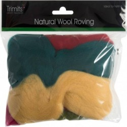 Pack of Natural Wool Roving...