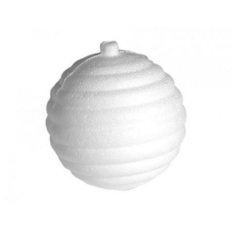 Colgante bola rallada horizontal de porex 8x8,5cm