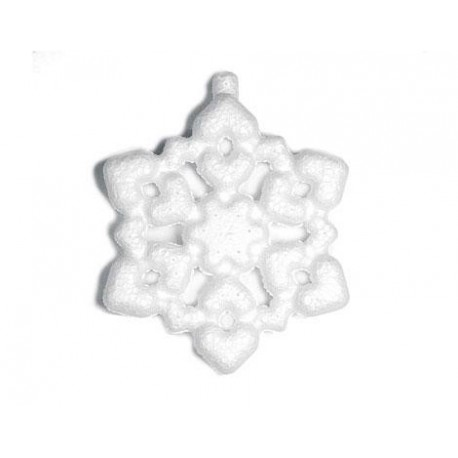 Colgante copo de nieve de porex