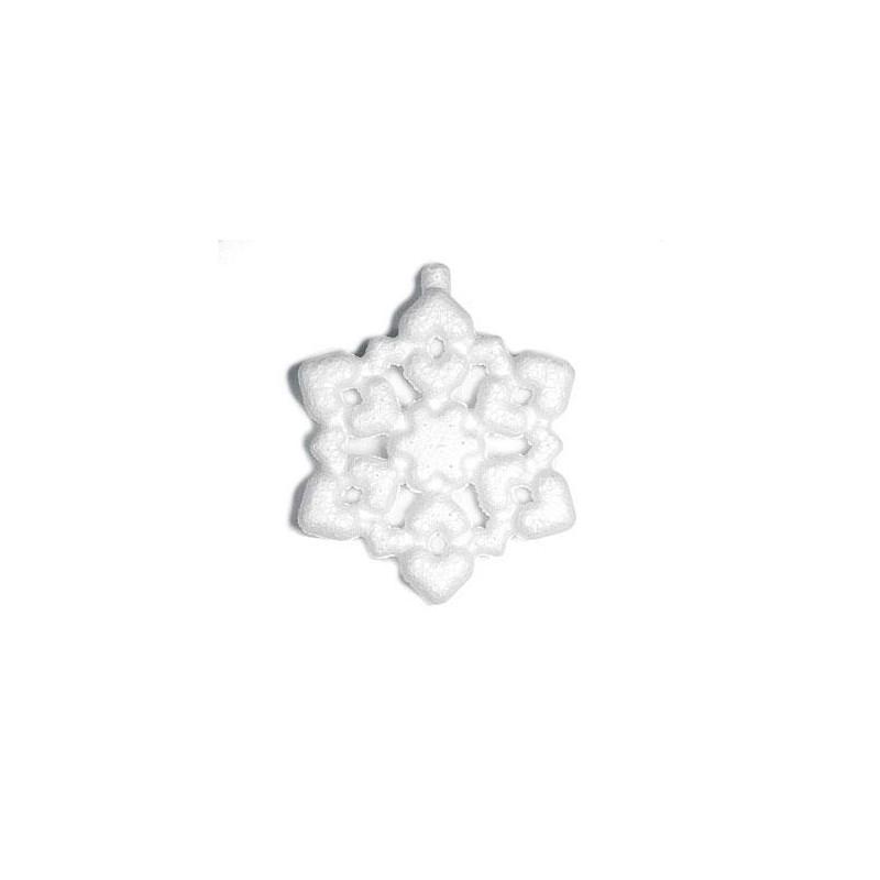 Colgante copo de nieve de porex - Las Tijeras Mágicas