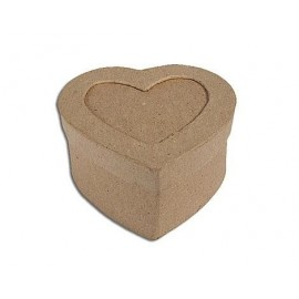 Caja papel maché con marco corazón