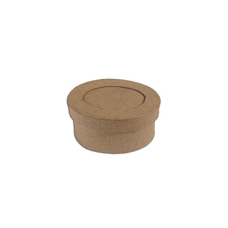 Caja de papel maché con marco oval - Las Tijeras Mágicas