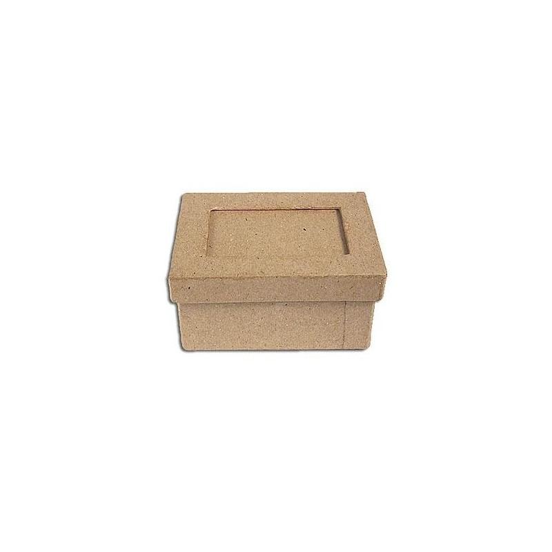 Caja de papel maché con marco rectangular - Las Tijeras Mágicas