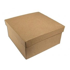 Caja de papel maché cuadrada