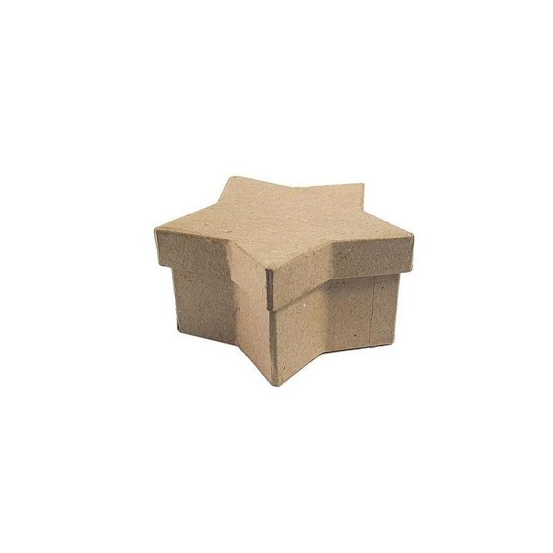 Caja papel maché estrella