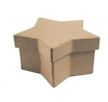 Caja de papel maché estrella