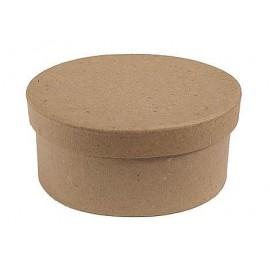 Caja papel maché oval