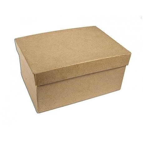 Caja papel maché rectangular