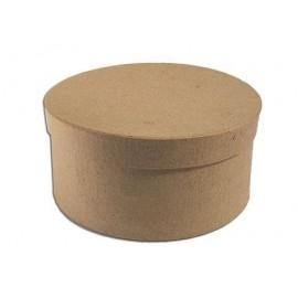 Caja de papel maché redonda