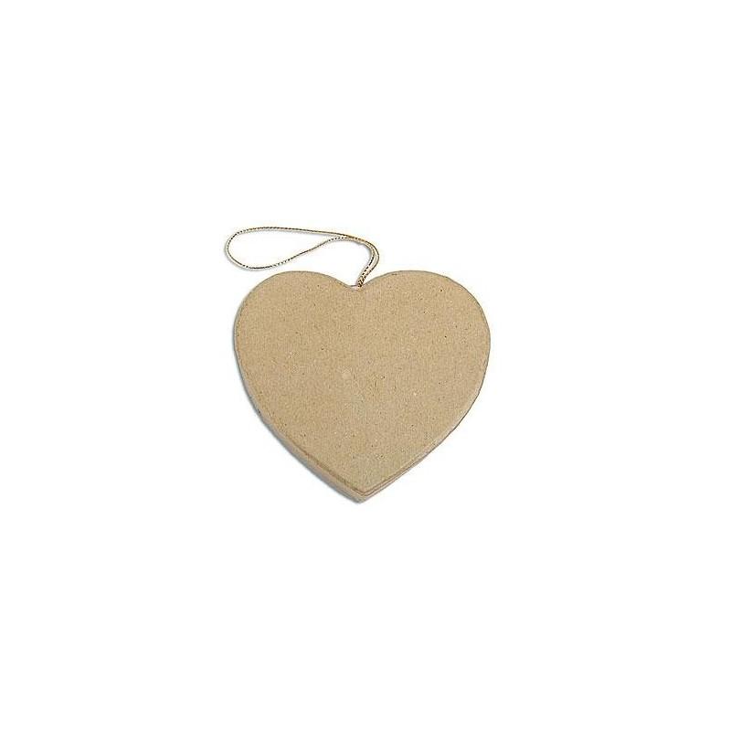 Flat Heart Hanging Paper Mache