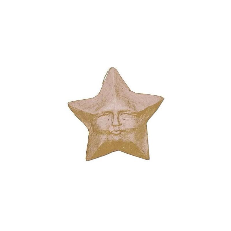 Colgante de Papel Maché - Estrella con Cara