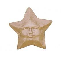Colgante de Papel Maché - Estrella con Cara 25 cm