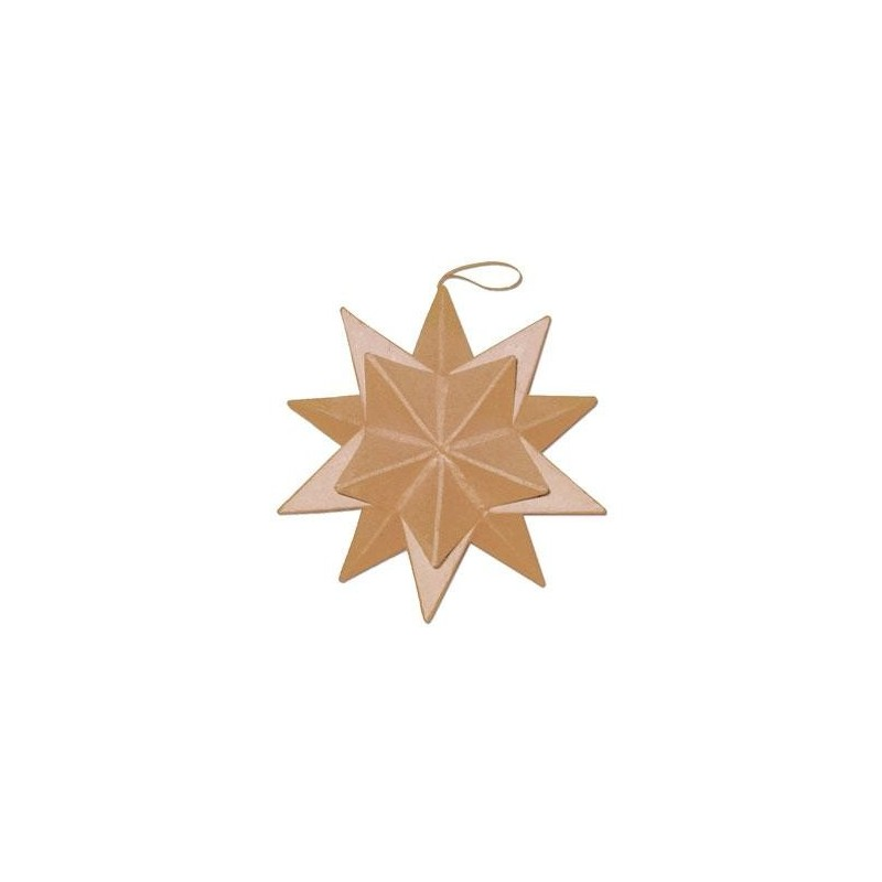 Colgante de Papel Maché - Estrella Puntas